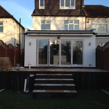 Kitchen Extension and Dormer Loft Conversion (view from the garden) - Roding Lane North, Woodford Green
