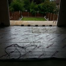 Kitchen Extension (floor insulation) - Roding Lane North, Woodford Green