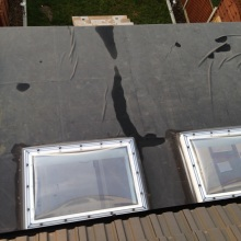 Kitchen Extension (view from the 1st floor, skylight windows) - Roding Lane North, Woodford Green