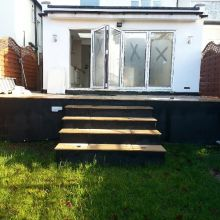 Kitchen Extension (view from the garden) - Roding Lane North, Woodford Green