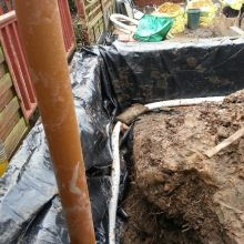 Kitchen Extension (damp proofing, water retention drainage system) - Roding Lane North, Woodford Green