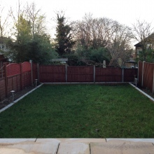 Garden Fencing - Clifton Road, Crouch End (1)
