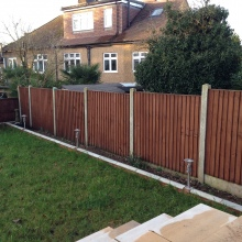 Garden Fencing - Clifton Road, Crouch End (2)